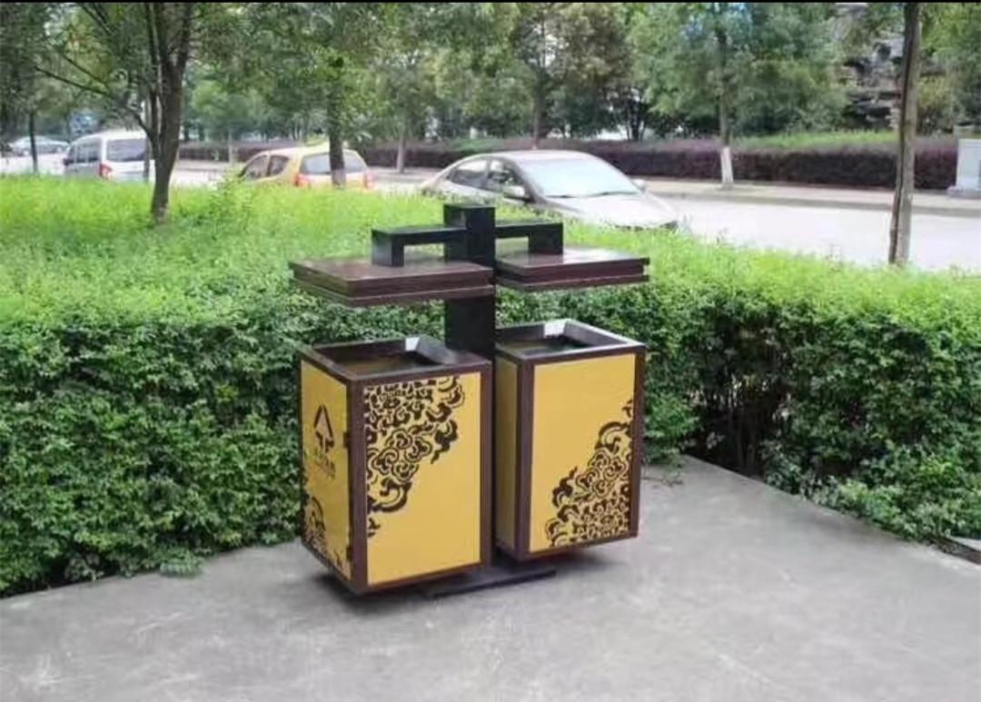 石家庄钢木垃圾桶
