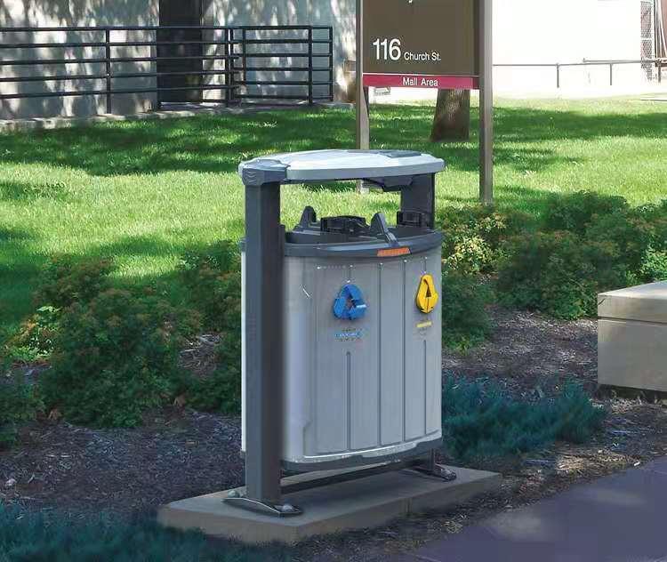 唐山石家庄钢木垃圾桶
