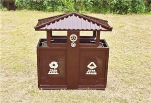 石家庄户外钢木垃圾箱