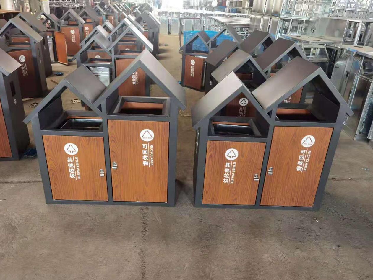 承德石家庄钢木垃圾箱